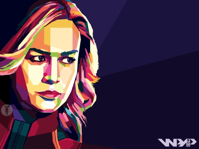 "Avengers: End Game ""Captain Marvel WPAP"" brie larson carol danvers captain marvel boxoffice avengersendgame vector artwork marvelcomics marvel fanart digital avengers vector portrait illustration portrait popart illustration colorful art colorful artwork"