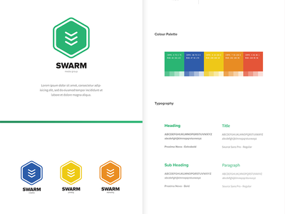 Swarm Brand Guidelines swarm brand branding logo logo design brand guidelines rebrand colour palette typography