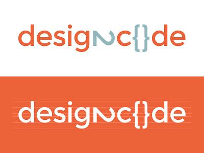 design2code logo branding design code design2code orange teal
