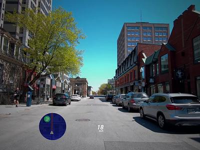 Improving safety on roads - AI + AR animation augmented reality autonomous car car interface futurism