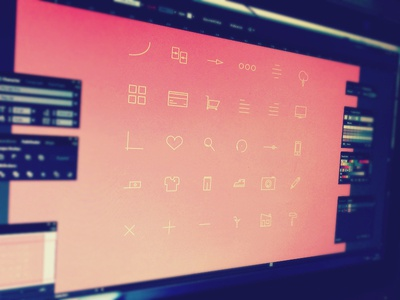 upcoming icons freebie icons ui preview iconography pictograms outlined outline icons contour
