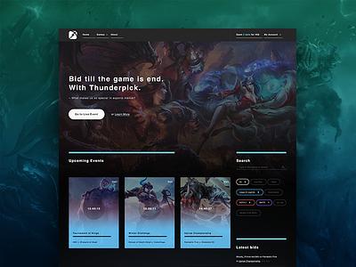 Esports Website Concept rwd gradients gaming game esports dark web design