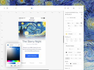 Redesigned UXPin - Case Study uxpin white ui design tool prototyping tool content editor wyswig