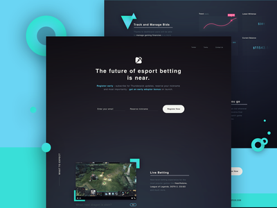 Thunderpick - Landing Page dark ui animation ux in motion ux gamifaction game league of legends lol esports