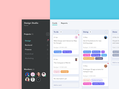 Not another Trello product design measure work pay for task tags ui card design cards task management collaboration project management trello kanban