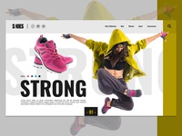 Sport shoes landing page