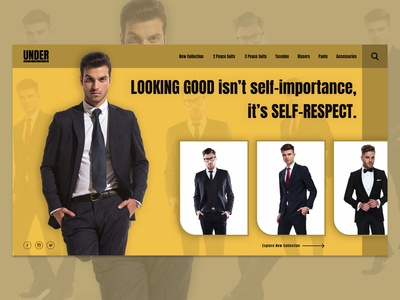 Men Fashion Landing Page