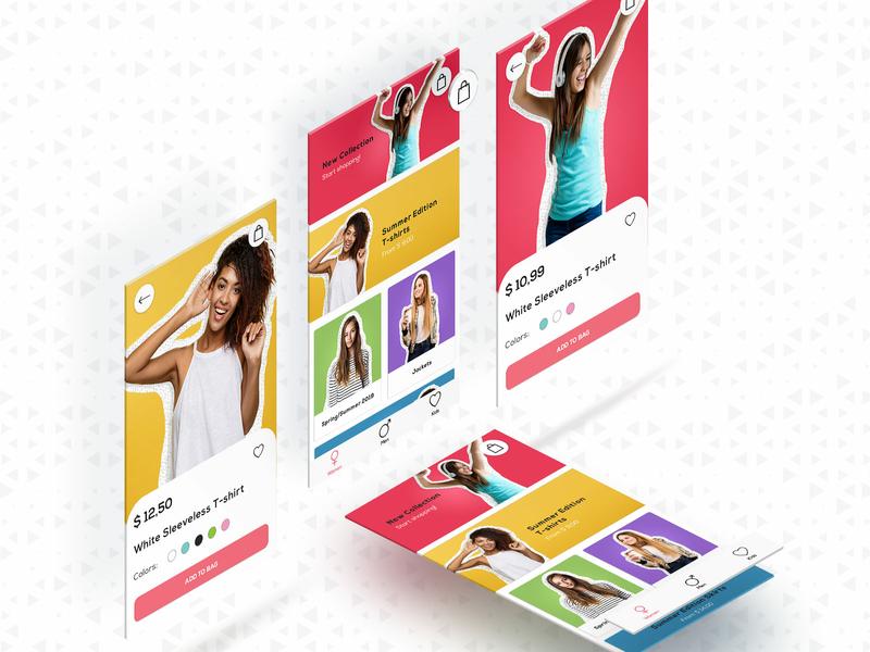 UI concept for the e-commerce app