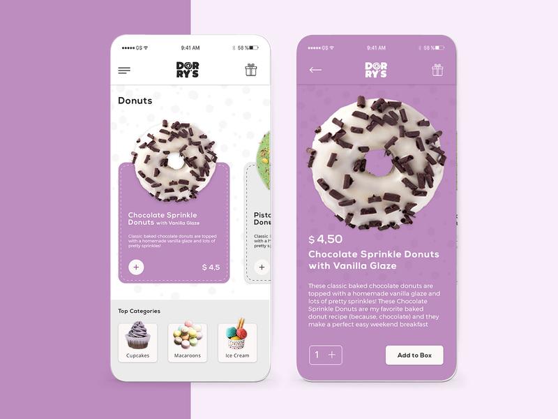 UI Concept for Dorry's shop
