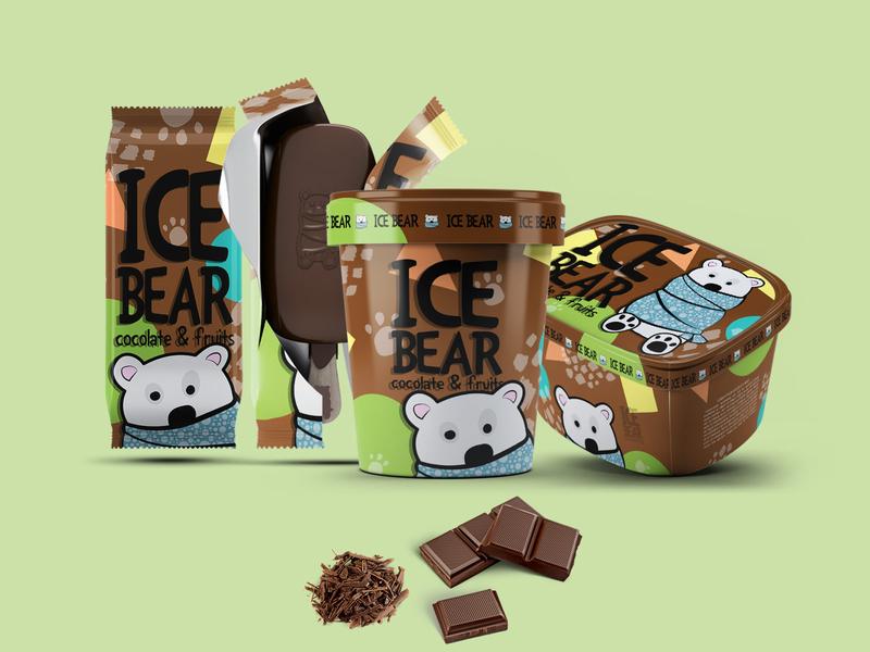 Ice Cream Packaging graphic design ice cream chocolate illustration design branding design branding designinspiration designideas