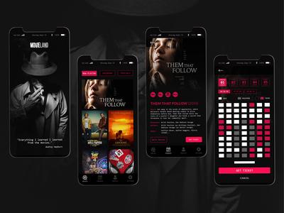 Movie theater mobile app UI design concept 🎥 🍿