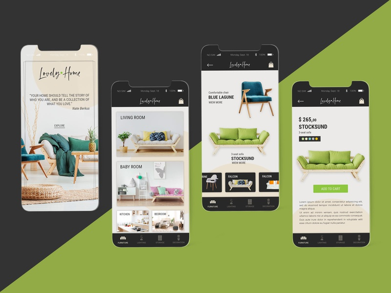 UI concept for Lovely Home