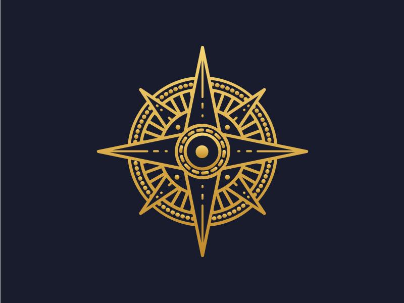 Compass Mark logo branding lines compass