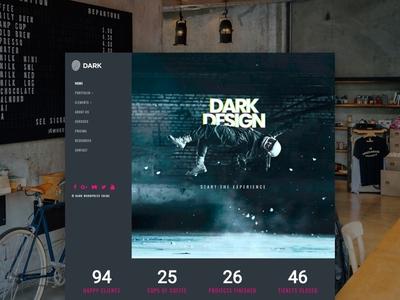 Dark WordPress Theme - Home Page revslider slider dark app dark mode dark ui dark wordpress dark wordpress dark theme black dark design page builder web development web design plugins responsive site builder template theme wordpress
