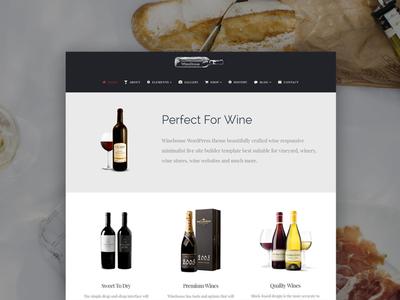 WineHouse WordPress Theme - Front Page wordpress theme vinepair webdesign web wine vine pub bar vineyard winery wube design page builder web development responsive site builder template theme wordpress web design plugins