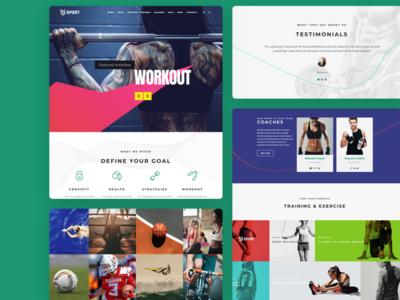 Sport WordPress Theme - Features logo landing-page portfolio slider branding design page builder web development web design responsive site builder template theme wordpress plugins