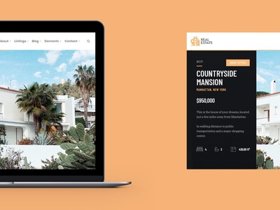 MacBook View - RealEstate WordPress Theme