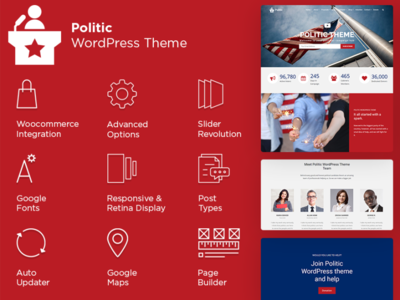 Politic WordPress Theme   Candidate Website Builder photoshop party political campaign political cartoon political logo pattern print governamental political politic plugins landing-page portfolio slider design responsive site builder template theme wordpress