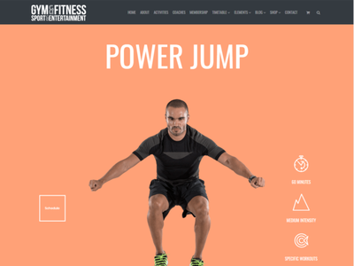 Jump Classes - Gym WordPress Theme gym flyer gymnastics gym logo wordpress development wordpress design wordpress theme wordpress blog health fitness gym web development illustration design web design plugins responsive site builder template theme wordpress