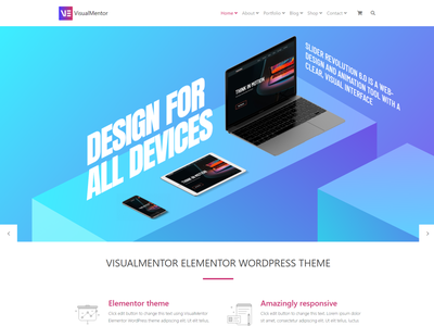 VisualMentor Elementor Responsive WordPress Theme by Visualmodo elementor templates widget wordpress design wordpress development wordpress blog theme design templates wordpress theme elementor design page builder web development web design plugins responsive site builder template theme wordpress