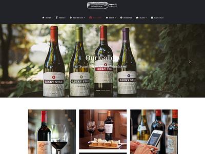 Gallery Page - WineHouse WordPress Theme html css pub bar drink winehouse winery wine logo illustration design web design animation plugins responsive site builder template theme wordpress