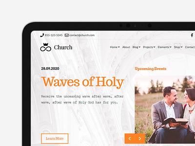Church WordPress Theme - Tablet View php css html wordpress theme faith religous church branding logo motion graphics graphic design 3d animation ui plugins responsive site builder template theme wordpress
