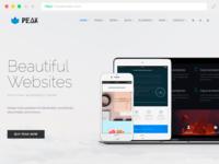 Peak Responsive WordPress Theme   Build A Website