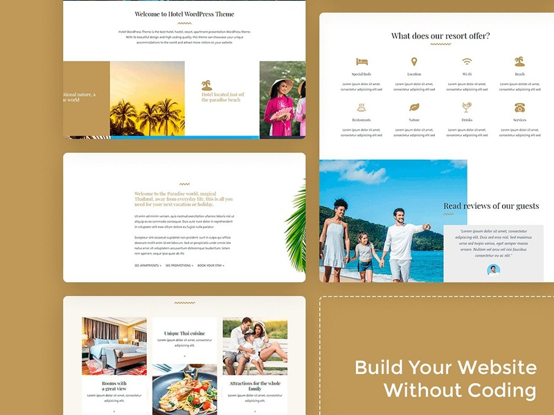 Hotel wordpress theme presentation