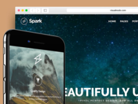 Spark WordPress Theme - Responsive Multi Purpose Template