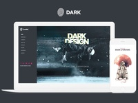 Dark WordPress Theme   Live Website Builder