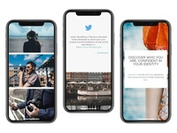 Photography WordPress Theme - iPhone Responsive View