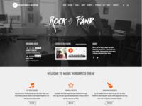 Home Page - Music WordPress Theme