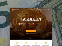 Cryptocurreny WordPress Theme - Home Page