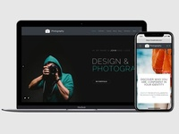 Photography WordPress Theme - Responsive View