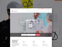 Employment WordPress Theme: Jobs Portal - Front-Page