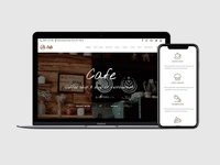 MacBook Responsive View - Cafe WordPress Theme