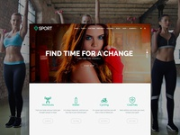 Front Page - Sport WordPress Theme