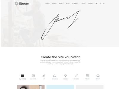 Portfolio Masonry - Stream Landing-Page WordPress Theme