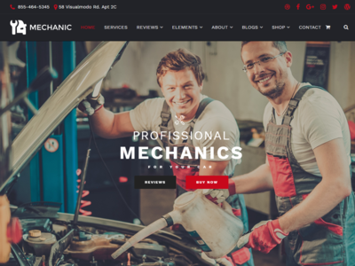Home Page - Mechanic WordPress Theme