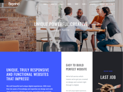 Home Creative Agency - Beyond All-In-One WordPress Theme
