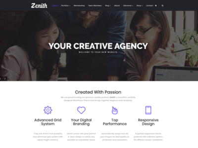 Zenith WordPress Theme Front-Page - Responsive Site Builder