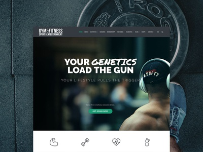Gym WordPress Theme - Site Creator Templates