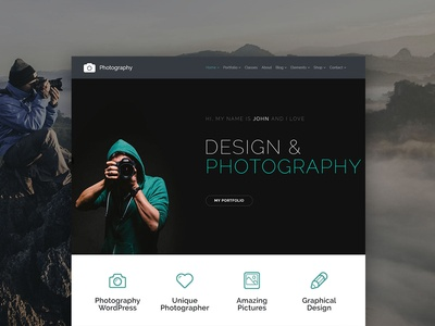 Photography WordPress Theme - Gallery Site Builder