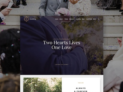 Wedding WordPress Theme - Responsive Site Builder