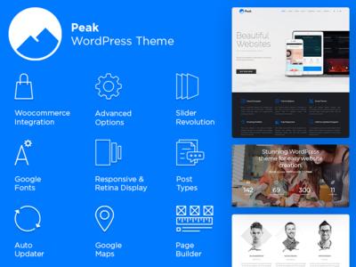 Peak WordPress Theme - Responsive Portfolio Site Creator