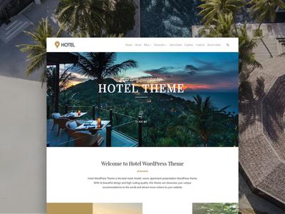 Hotel WordPress Theme - Resort Site Builder
