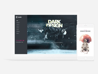 Dark WordPress Theme - Website Builder