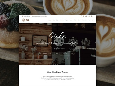 Cafe WordPress Theme - Product Front-Page