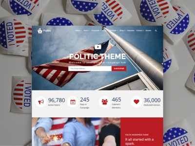 Politic WordPress Theme - Candidate Campaign Responsive Template webdesign website templates newsletter candidate party governmental design page builder web design plugins responsive site builder template web development theme wordpress politician political politic