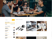 Courses Page - Education WordPress Theme